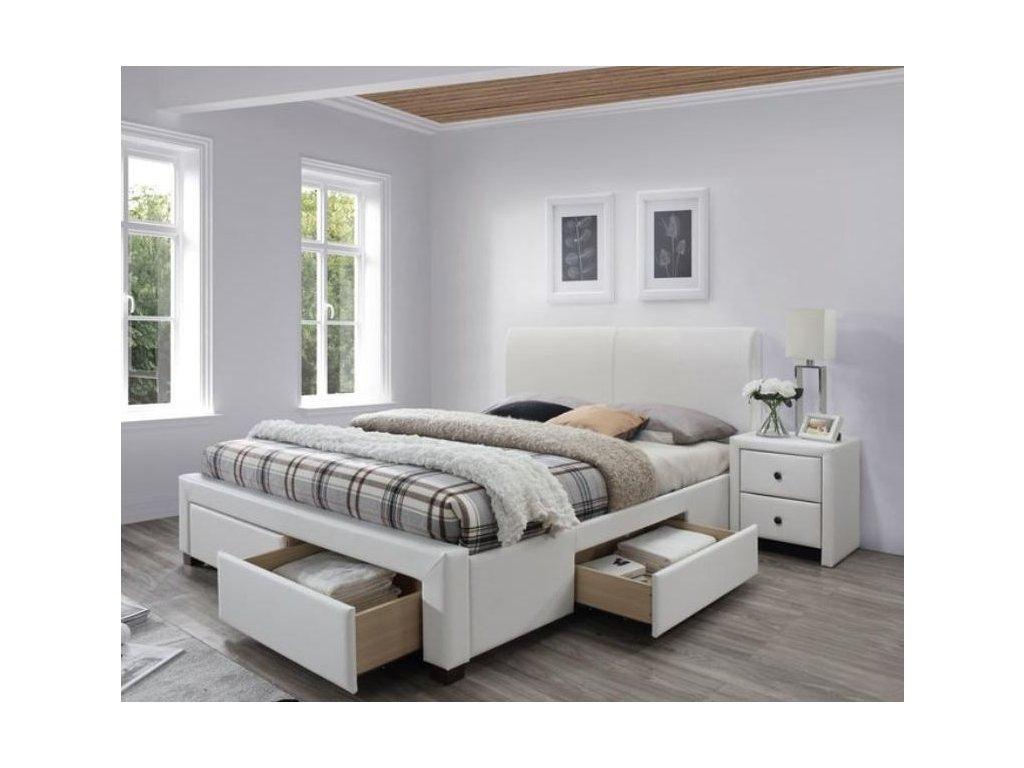 MODENA 2 posteľ biela