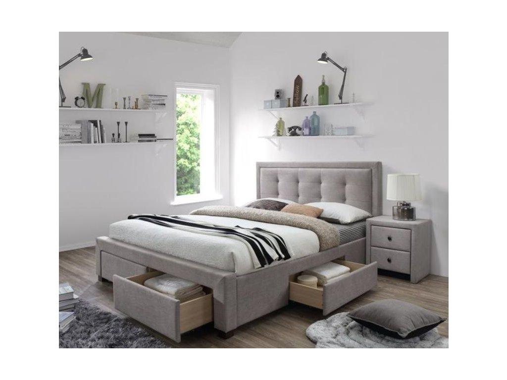 EVORA posteľ béžová