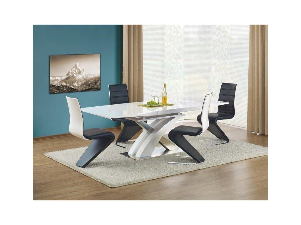 Sándor stôl rozkladací biely lakovaný