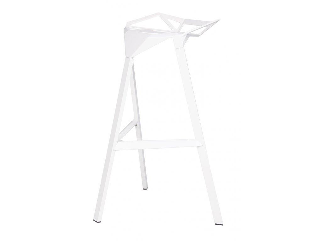 Barová stolička SPLIT biela - hliník