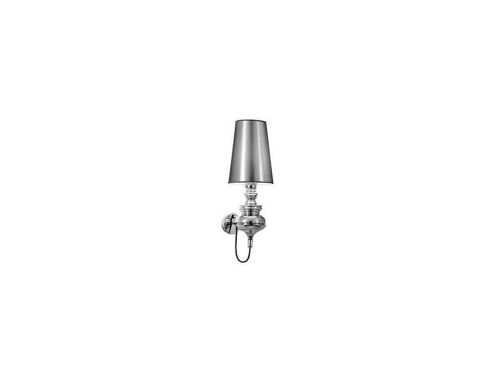 LAMPA NÁSTENNÁ QUEEN WALL CHROM / KOV / syntetické látky / 1 tienidlami