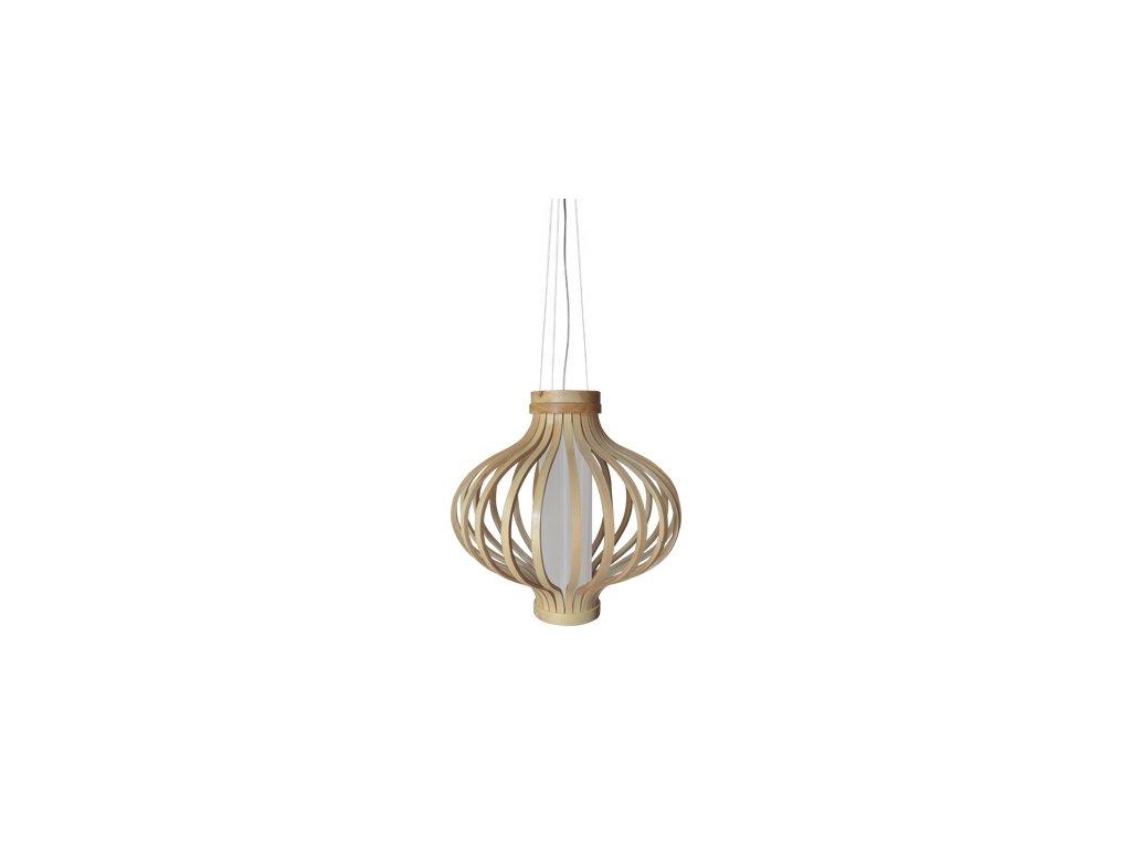 Luster - LAMPA ZÁVESNÁ BAREL 38 DREVO / syntetické látky