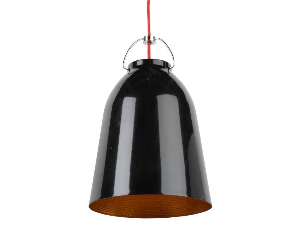 Luster - LAMPA ZÁVESNÁ Cloche 25 HLINÍK / ČIERNA-ZLATÁ
