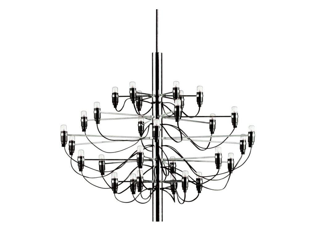 Luster - LAMPA ZÁVESNÁ GINO 85 NIKEL / 30 ŽIAROVKY