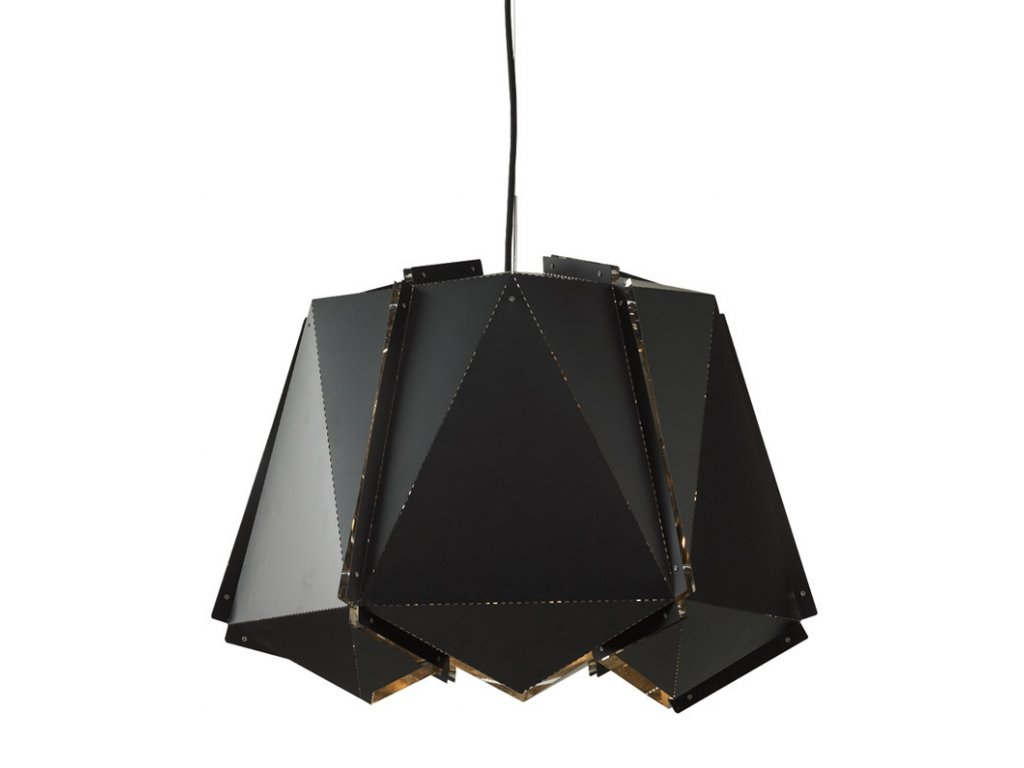 Luster - LAMPA ZÁVESNÁ ORIGAMI 40 KOV / ČIERNA STRIEBORNÁ