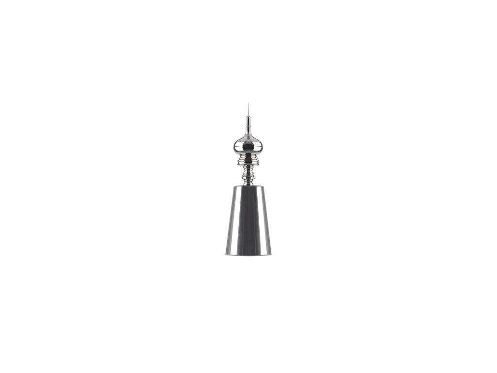 Luster - LAMPA ZÁVESNÁ QUEEN 1 CHRÓM CHRÓM / KOV / syntetické látky / 1 tienidlami