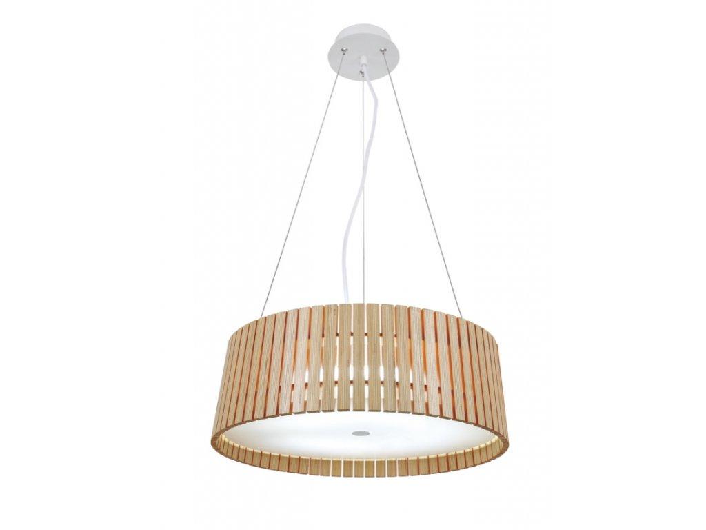 Luster - LAMPA ZÁVESNÁ Serchio 49 DREVO / syntetické látky