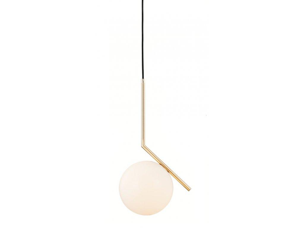 Luster - Lampa závesná HALMCE 20 - mosadz, sklo