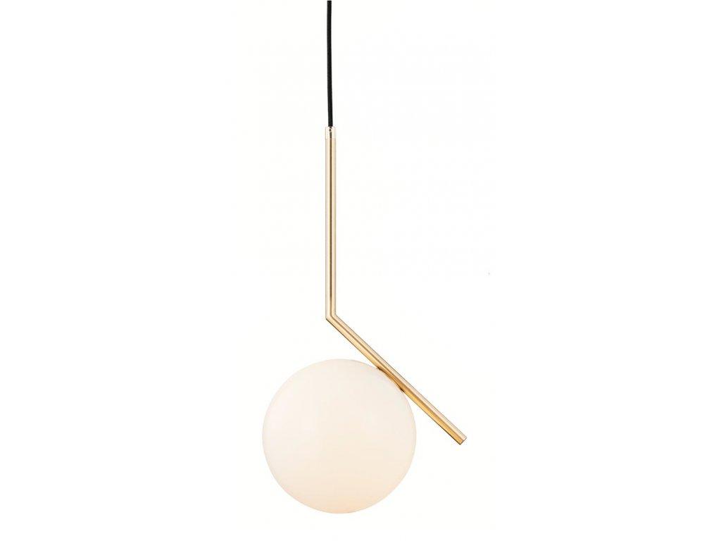 Luster - Lampa závesná HALMCE 30 - mosadz, sklo