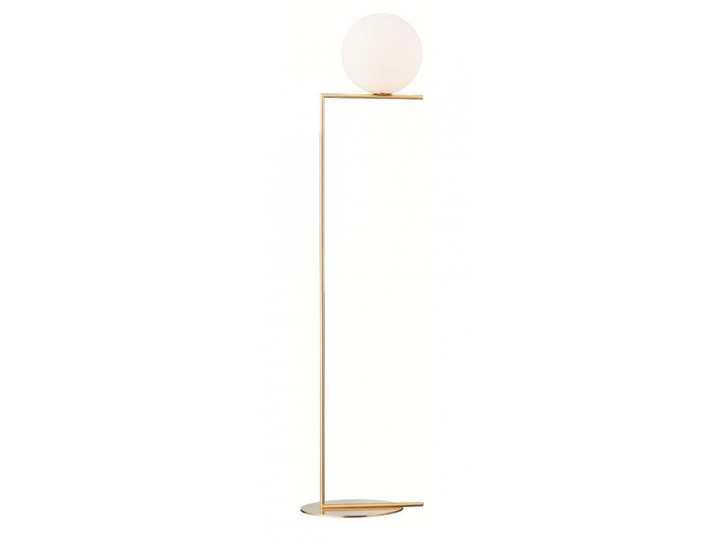 Lampa HALMCE FLOOR - mosadz, sklo