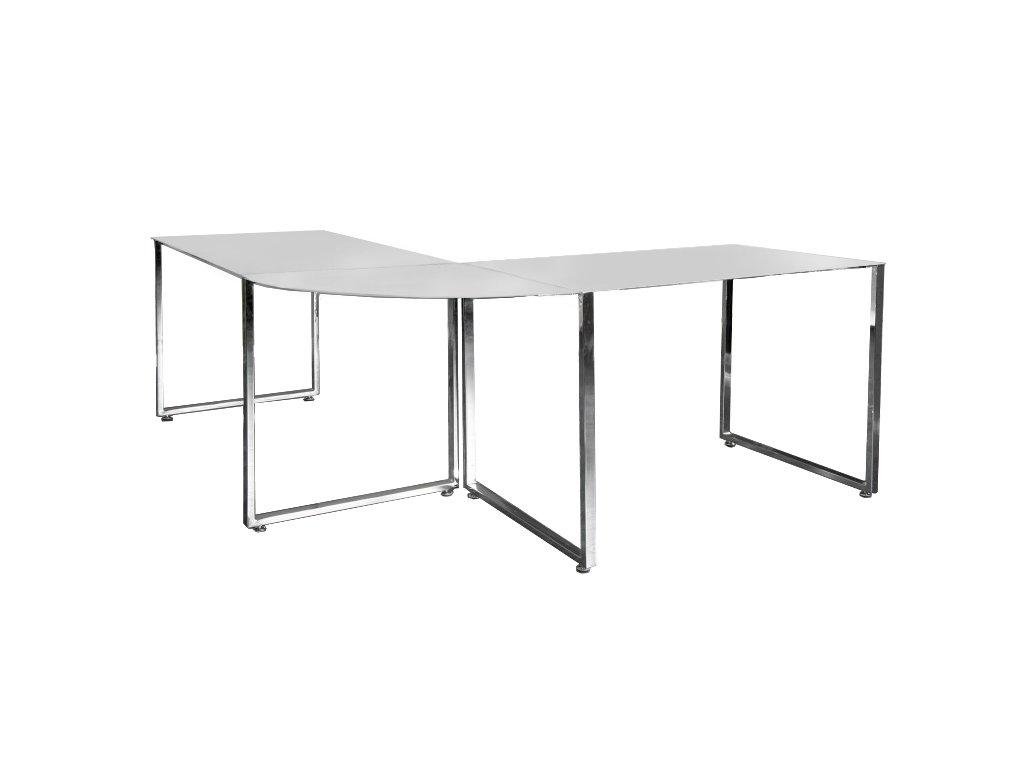 Písací stôl rohový Lumina biely