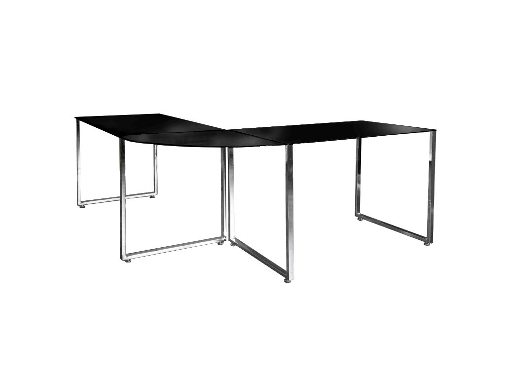 Písací stôl rohový Lumina čierny
