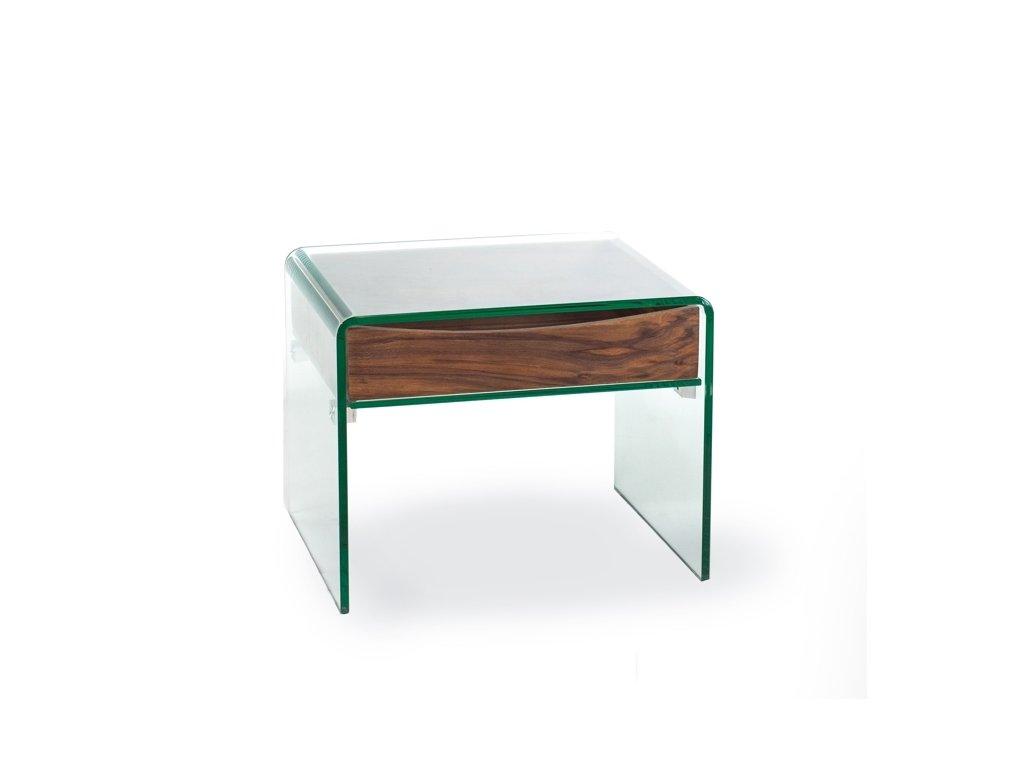 stolík sklenený CASSETTA SKLO / DÝHA