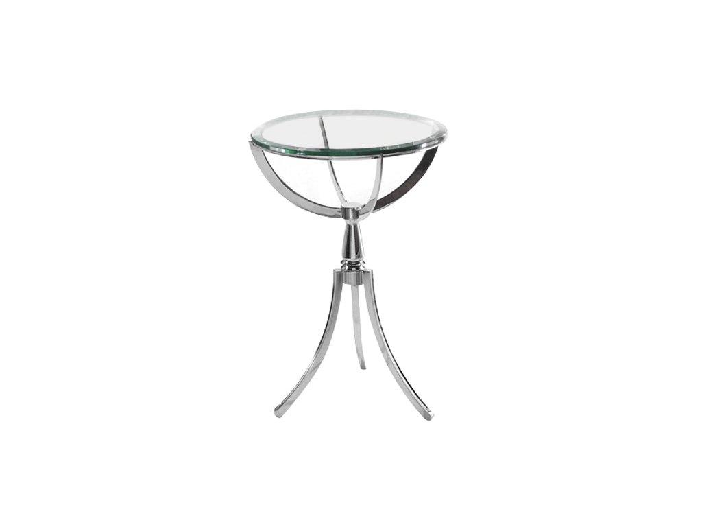 stolík sklenený COPERNIKUS SKLO / OCEĽ NEREZ