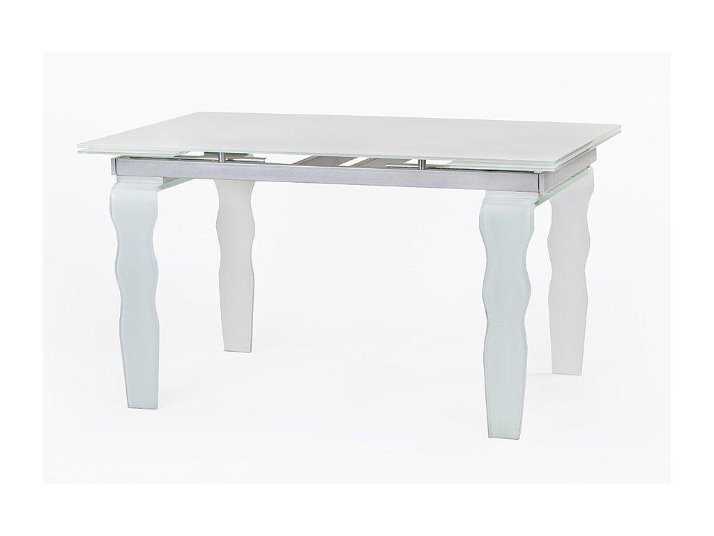 Stôl sklenený VENDOME 200/300 - opti biely