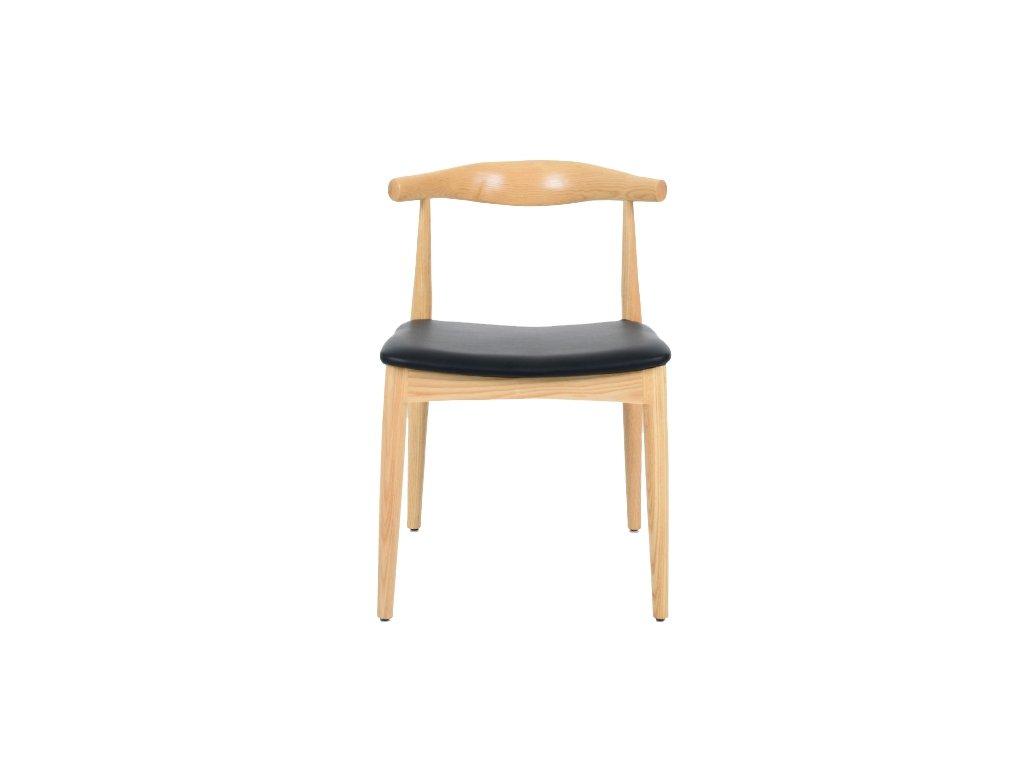 Stoličky Gomita prírodné - drevo jaseň, koženka