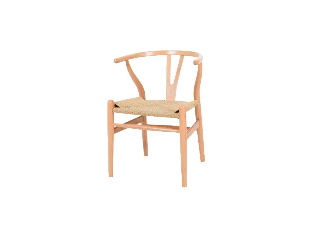 Stoličky VIDE prírodné - drevo bukové, prírodné vlákno