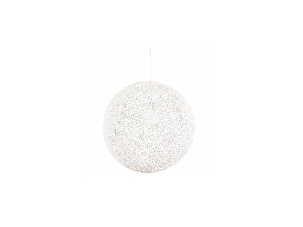 Luster - Lampa závesná LUNA 110 biela - konopný špagát