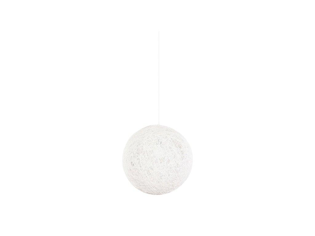 Luster - Lampa závesná LUNA 40 biela - konopný špagát
