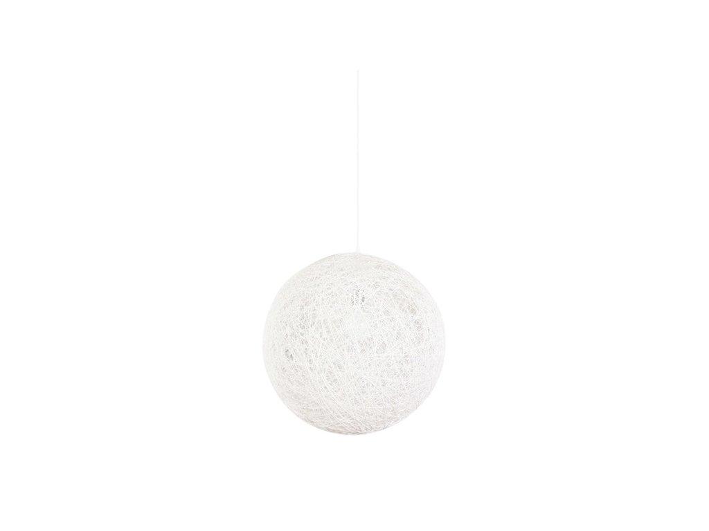 Luster - Lampa závesná LUNA 60 biela - konopný špagát