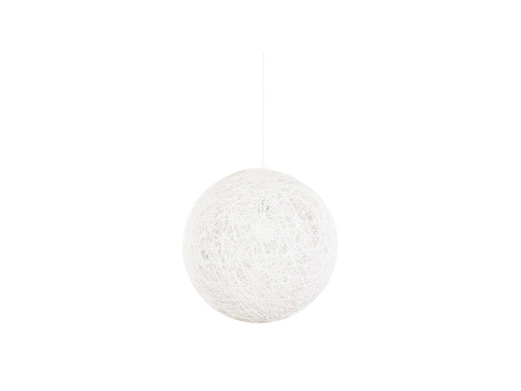 Luster - Lampa závesná LUNA 80 biela - konopný špagát
