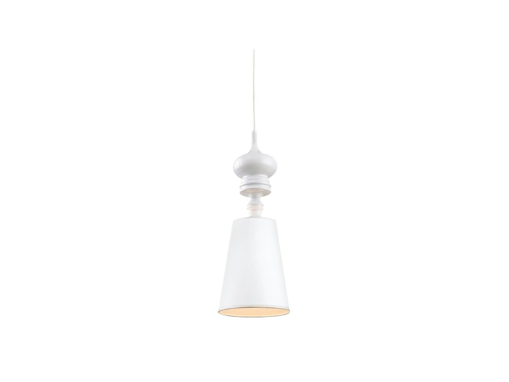 Luster - Lampa závesná QUEEN 1 biela