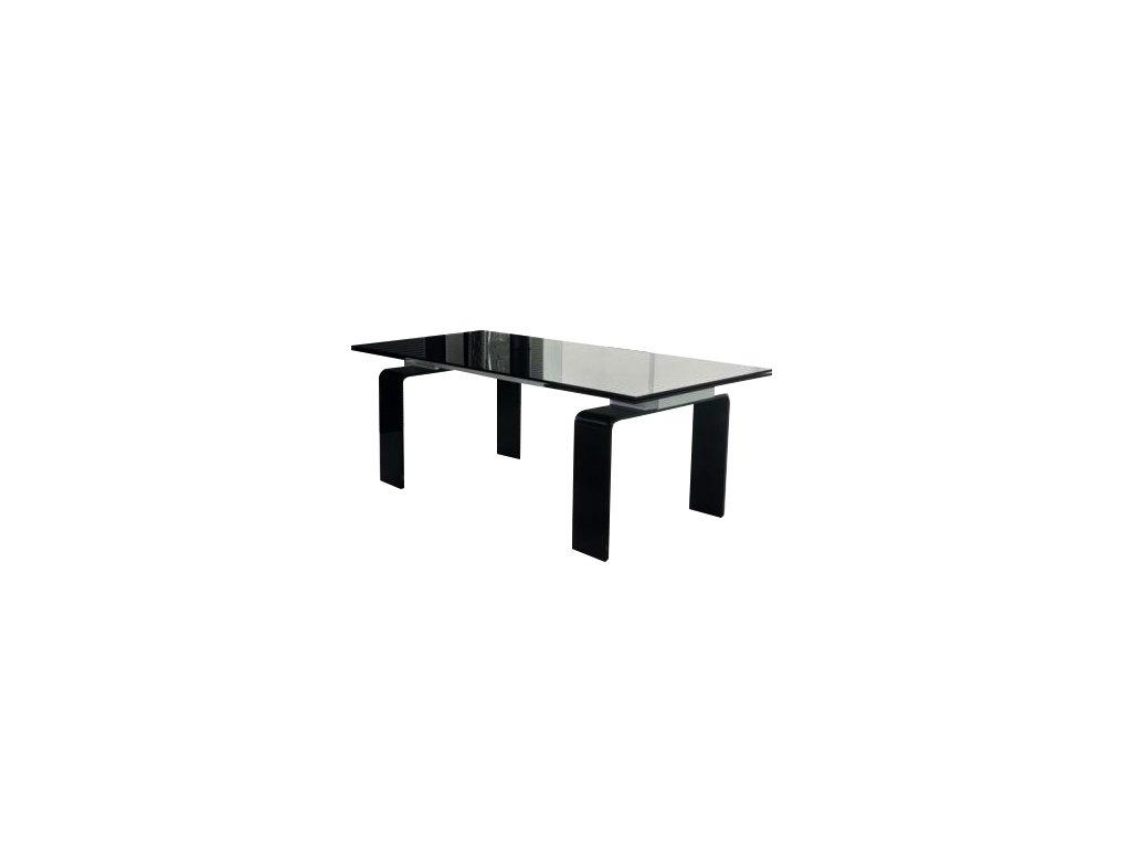 Stôl sklenený ATLANTIS BLACK 200/300 - sklo kalené