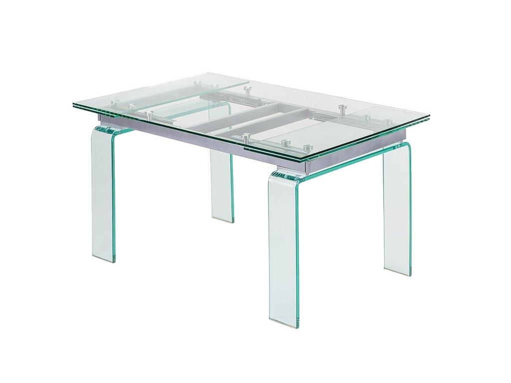 Stôl sklenený ATLANTIS CLEAR 160/240 - sklo kalené