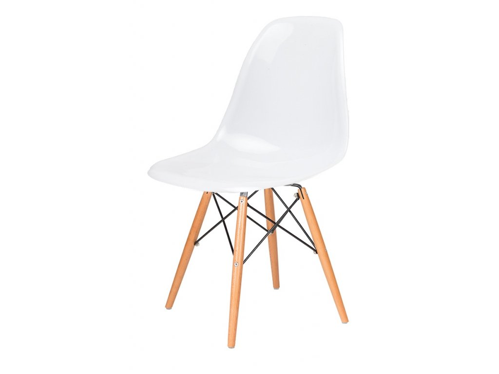 Stoličky DSW GLOSS biela - polypropylén, základ bukový
