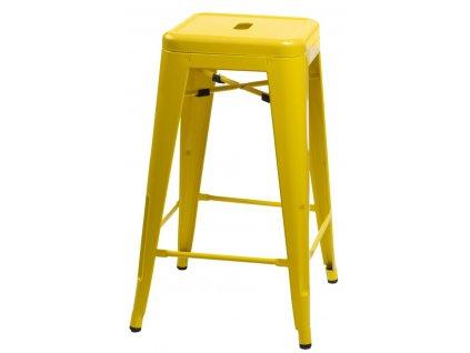 Barová stolička Paris 75cm žltá insp. Tolix