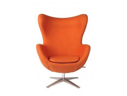 Kreslo EGG širokej vlna oranžová JA-2717