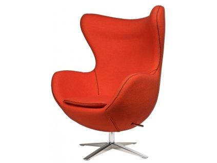 Kreslo EGG širokej vlna oranžová JA-2717 s prešitím