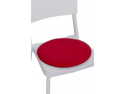 Vankúš na stoličky guľatý červený