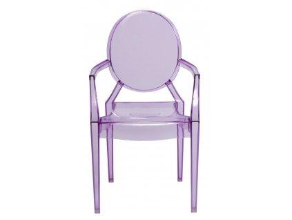 Stoličky Royal Jr fialová transparentná