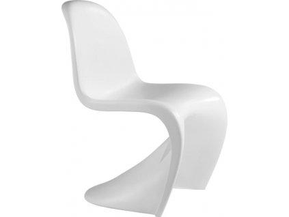Detská stolička HOVER JUNIOR biela - polypropylén