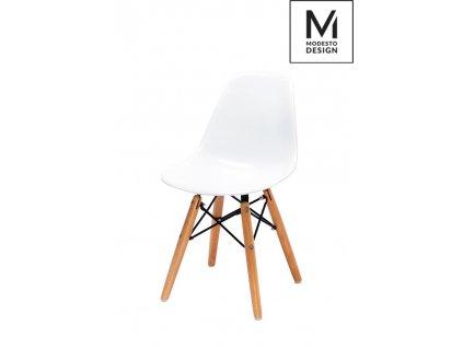 MODESTO stoličky JUNIOR DSW biela - polypropylén, bukový základ