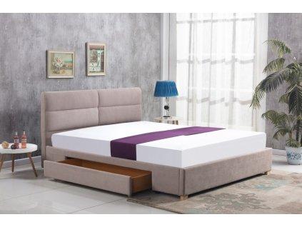 MERIDA posteľ so zásuvkou béžová