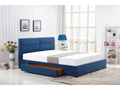 MERIDA posteľ so zásuvkou modrá