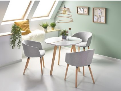 EXPRESS stôl biely / buk