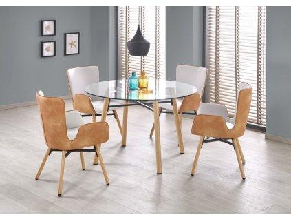 YUKON stôl buk / transparentná