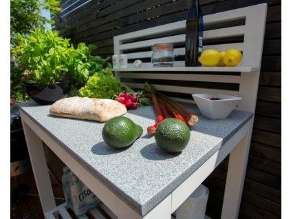 Kuchyně terasová bílá