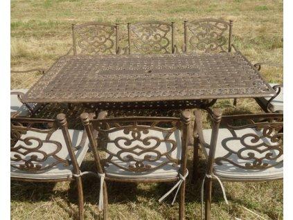 Hliníkový obdĺžnikový stôl Manitoba
