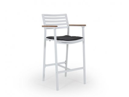 Barová židle hliník Teak Olivet