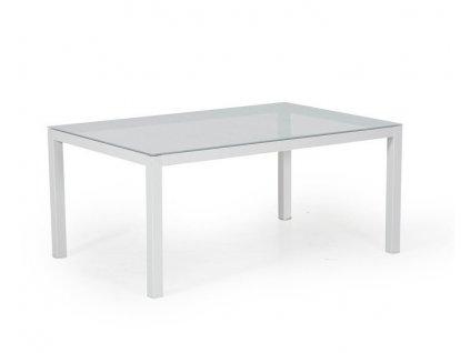 Hliníkový kávový stolek 120x70 Toulouse bílý