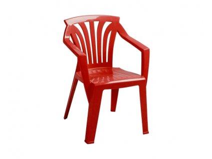 Záhradný nábytok pre deti stoličky Ariel: červený polypropylén