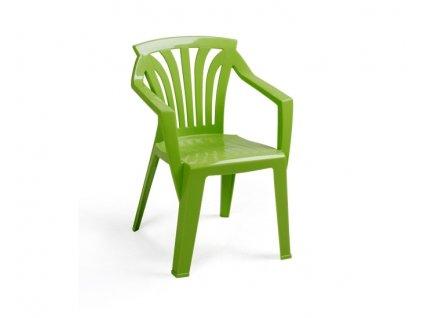Záhradný nábytok pre deti stoličky Ariel: limetkový polypropylén
