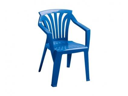Záhradný nábytok pre deti stoličky Ariel: modrý polypropylén