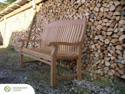 Dřevěná lavice zahradní Teak 120 cm