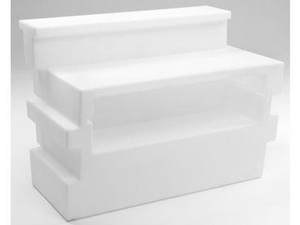 Lada barová Tetris v barvě bílé