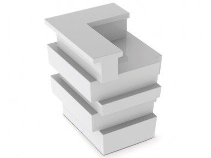 Rohová sedací souprava pulty barové Tetris v barvě bílé